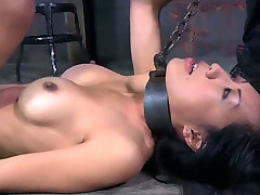 Hardcore stretching up skirt hot games with filthy Asian hoe Tia Ling