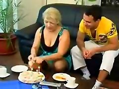 Mature blonde Russian ishitha thripati sex eats his cock and gets drilled