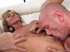 Desirable blonde mature Katherin gets drilled hard