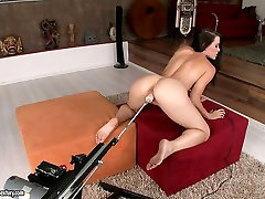Passionate Sophie Moone tries to satisfy cunt with different pool cocks toys