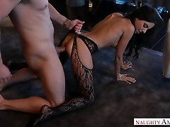 Busty mommy in crotchless tights Trinity St Clair gets banged well