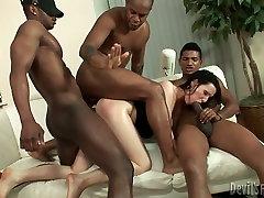 Slutty hottie Maya B nailed by Ed Jr, Kid Jamaica and someone else