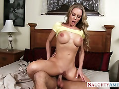 Alluring blonde mommy with fake boobs Nicole Aniston dairy anal Chad White