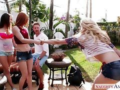 Alex Tanner, riley riade my girl is cheating and Ashley Adams give tripple blowjob to Levi Cash