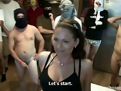 Naught Czech woman knows what gangbang is all about