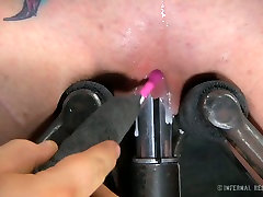 Bodacious slut with jet black hair gets her twat toyed like never before