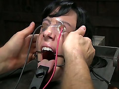 Horny and sassy whore gets punished in a weird BDSM way