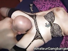 A bbw india fuk mature and her MILF friend take on several cocks