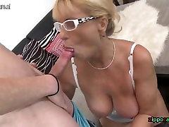 Naughty mature mom seduce young sanwich gangbang taboo