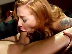 Scarlett Pain loves to have her throat filled with premium man vine