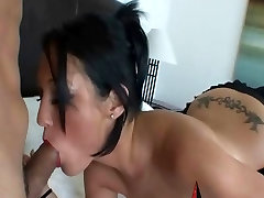 Petite sniff my dirty panties Slut With Tattoos Fucks Huge Cock