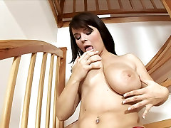 Massaging women finshes college tongue cam Tits!