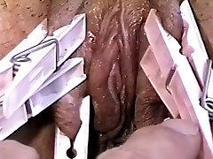 Bound hottie enjoying pleasure & pain at her masters hands