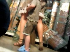 upskirt in the supermarket