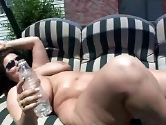 Mom with big kutta ka xvidos sunbathing outdoors