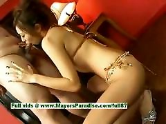 Misa Tsuchiya innocent lovely asian girl enjoys sucking cock