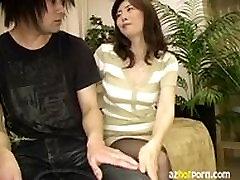 AzHotPorn.com - Beautiful MILF Hand Job, Feet Job,