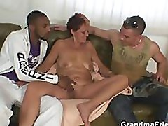 Two dudes bang nasty oldy