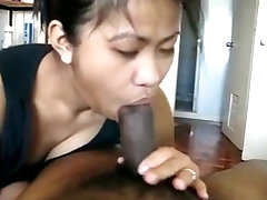 asian girlfrien deepthroats her man