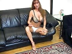 Jerk off teacher spreads legs and demos masturbation