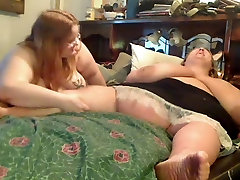 Horny Fat Obese big boobs hug dance playing with each other