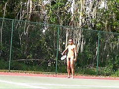 Nude tennis serve