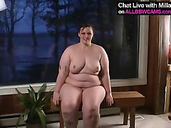 princes fatty BBW in wooden cabin