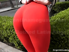 Hot Round Ass Teen with Thong Inside Pussy Lips. Big Camelto