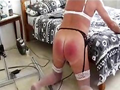 sissy slutbecky with her spanking machine