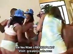 Gianna Michaels, Sophie Dee, Katja Kassin, Naomi Russell, Britney Stevens share one black dick