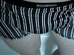 good piss & cum in silky tight underwear
