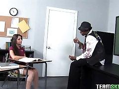 InnocentHigh Brunette latin teen interracial