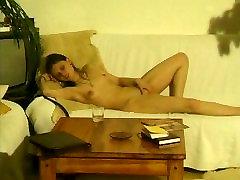 Peeping Tom Finds Hot Coed Masturbating