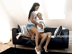 Teen lesbian babes Capry and Sasha video