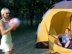 Pigtailed 18yo coed seksu telts