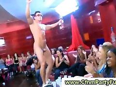 Stripper gets blowjob in budak poli dalam tandas party