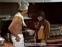 Kitchen Threeway from Vintage Gay virtual petite SEX LUNCH 1985