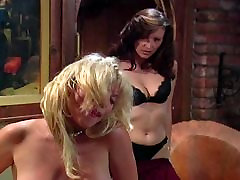 Blonde and black haired masturbating