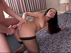 Black babe works with both holes