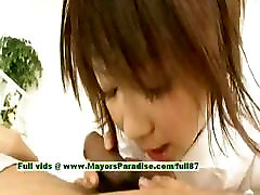 Miriya Hazuki angel joanna asian girl giving a blowjob