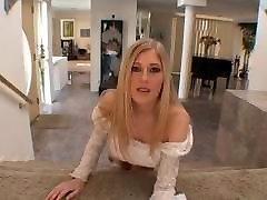 British slut Michelle B DP on the sofa
