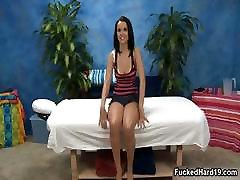 Stunning brunette teen babe showing part3