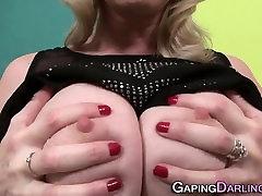 Gaping granny jizz mouth