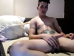 naked man masturbating on camera