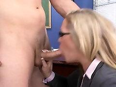 Slutty Blonde Teacher Rides Student Cock Jessie Cash