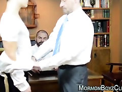 Young straight stripped and groped by two older gay men