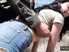 Hot latin babe Kimberly Gates gets banged on the border