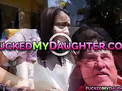 Teen Victoria sucks a huge cock like a pro