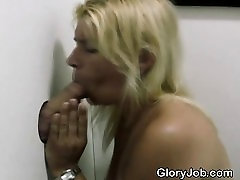 Blonde Smokes Cigarette And Dick Through germon handsome old man Hole