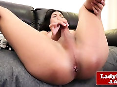 Asian jumokasmir biyep video sensual stroking her cock